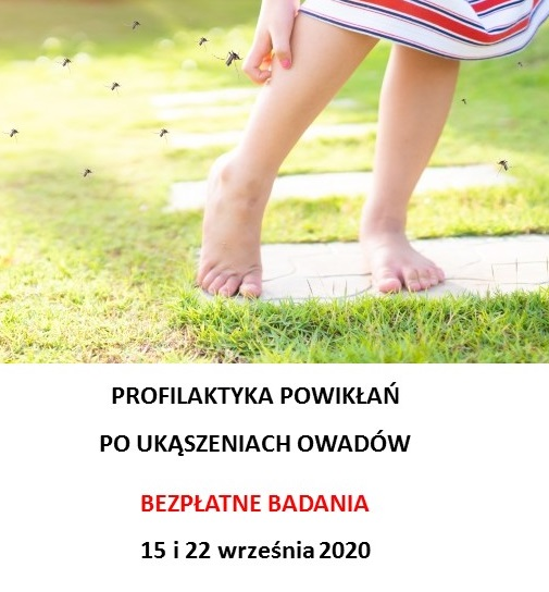 Profilaktyka przeciw ukąszeniom owadów